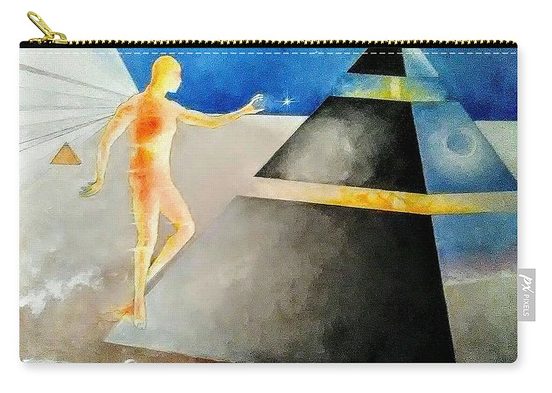 Thoth Carry-all Pouch featuring the painting Thoth The Atlantean by Dylan Gilbert