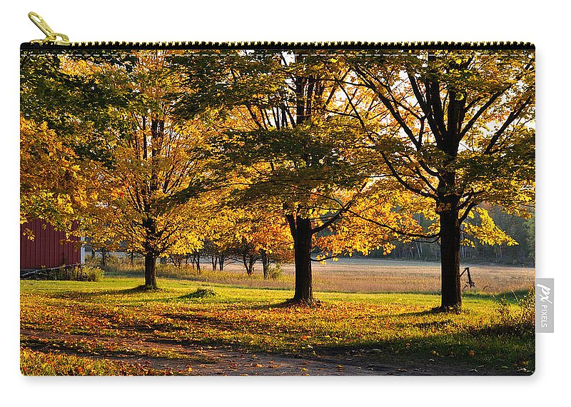 Fall Carry-all Pouch featuring the photograph Three Sisters by Tim Nyberg