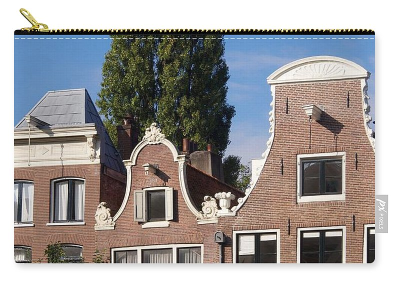 Facade Carry-all Pouch featuring the photograph Traditional Canal Houses In Amsterdam. Netherlands. Europe by Bernard Jaubert