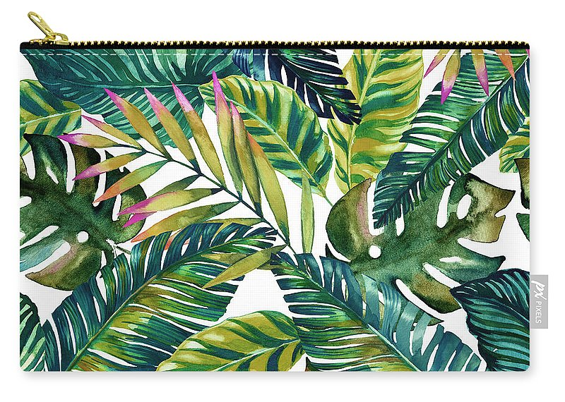 Summer Carry-all Pouch featuring the digital art Tropical by Mark Ashkenazi