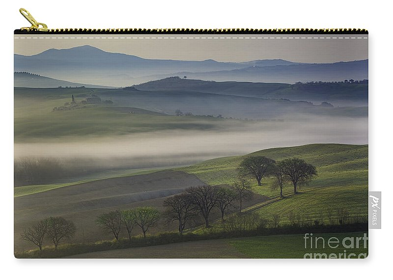 April Carry-all Pouch featuring the photograph Tuscan Dawn by Brian Jannsen