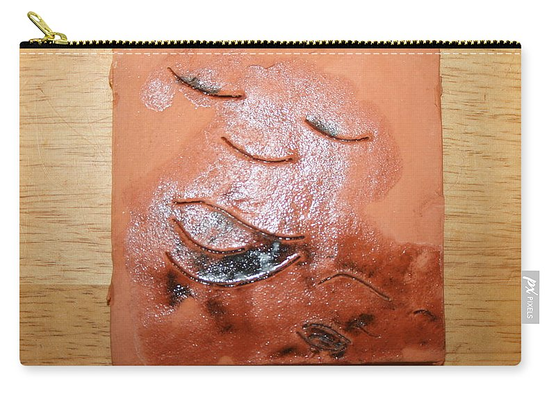 Jesus Carry-all Pouch featuring the ceramic art Us - Tile by Gloria Ssali