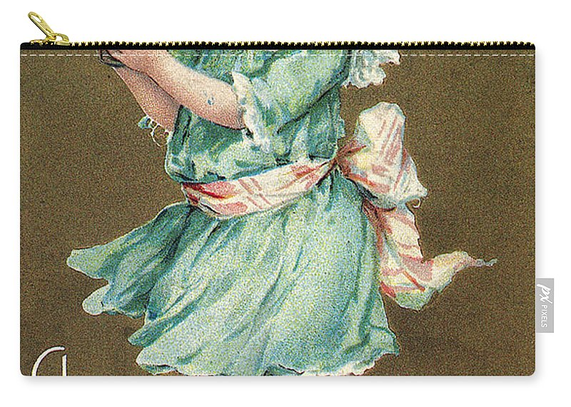 1908 Carry-all Pouch featuring the photograph Valentines Day Card by Granger