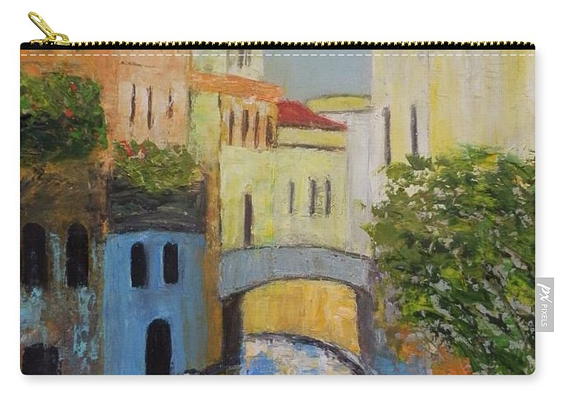Venice Carry-all Pouch featuring the painting Venice by Maria Karalyos