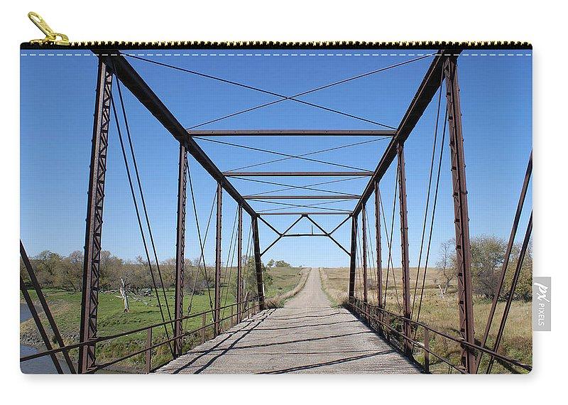 Donald Erickson Carry-all Pouch featuring the photograph Vintage Steel Girder Bridge by Donald Erickson