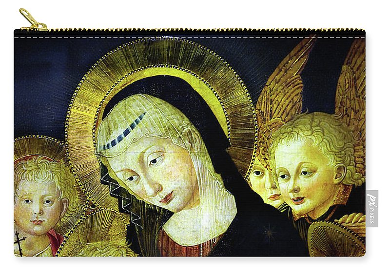 Painting Carry-all Pouch featuring the photograph Virgin And Child by Pesellino