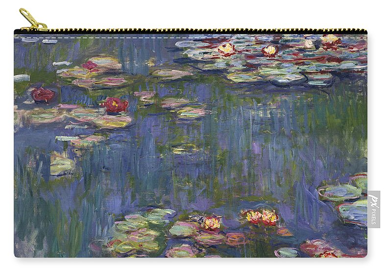 Monet Carry-all Pouch featuring the painting Water Lilies, 1916 by Claude Monet