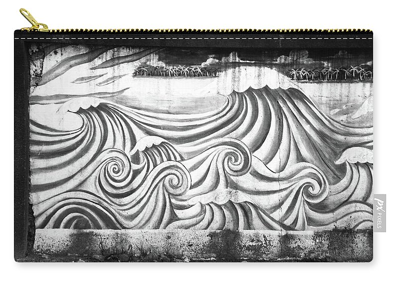 Mati Carry-all Pouch featuring the photograph Wave Goodbye by Jez C Self
