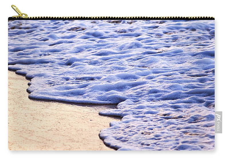 Caribbean Carry-all Pouch featuring the photograph Waves Breaking On Tropical Shore by Elena Elisseeva