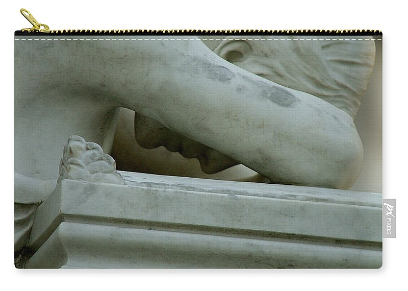 Weeping Angel Carry-all Pouch featuring the photograph Weeping Angel by Peter Piatt