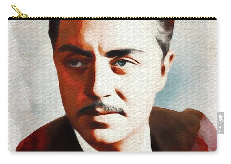 William Carry-all Pouch featuring the painting William Powell, Hollywood Legend by John Springfield
