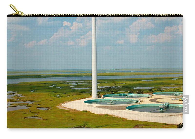 Wind Farm Carry-all Pouch featuring the photograph Wind Farm by George Mattei