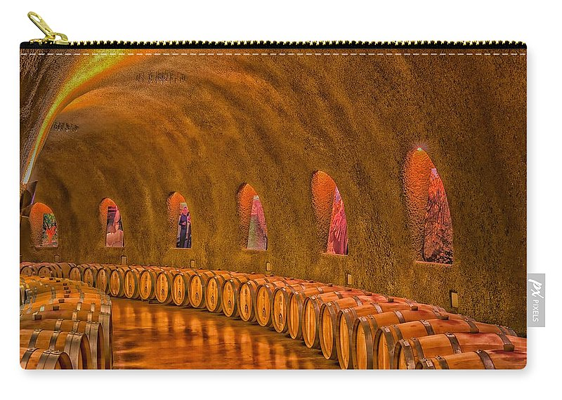 Wine Carry-all Pouch featuring the photograph Wine Cave by Mountain Dreams