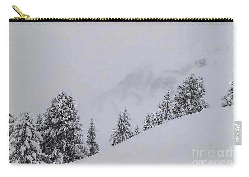 Horizontal Carry-all Pouch featuring the photograph Winter Landscapes by Travel and Destinations - By Mike Clegg