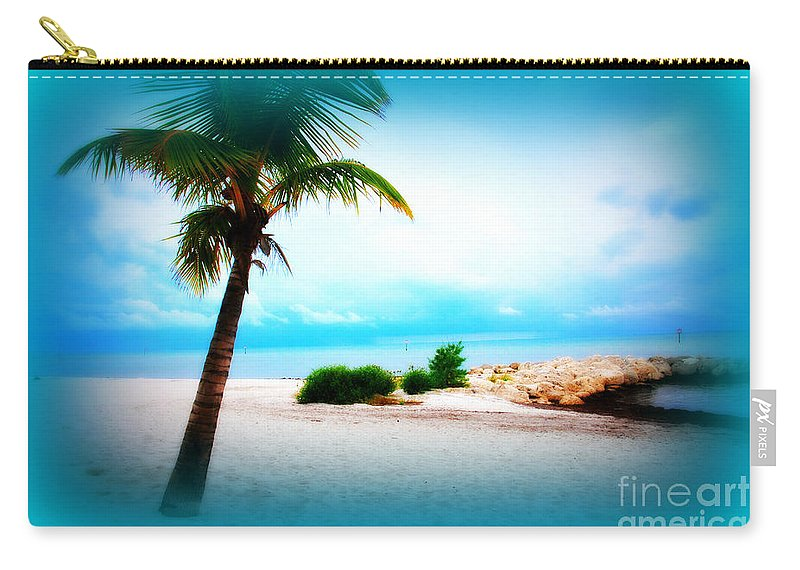 Palm Carry-all Pouch featuring the photograph Wish You Were Here by Susanne Van Hulst