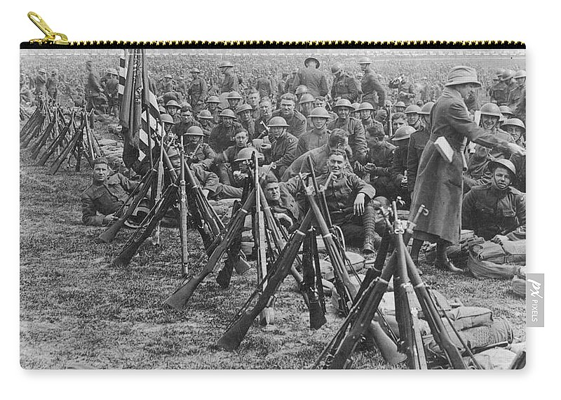 1919 Carry-all Pouch featuring the photograph World War I: U.s. Troops by Granger