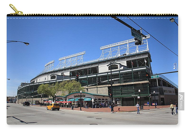 Addison Carry-all Pouch featuring the photograph Wrigley Field - Chicago Cubs by Frank Romeo