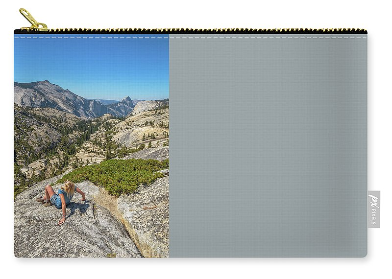 Yosemite Carry-all Pouch featuring the photograph Yosemite National Park Hiking by Benny Marty