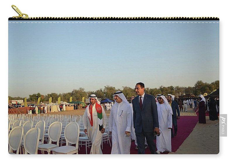 Carry-all Pouch featuring the photograph Dubai Travelers Festival by Mohamed Dekkak