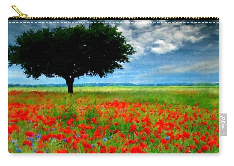 Nature Carry-all Pouch featuring the digital art Landscape Illumination by Usa Map