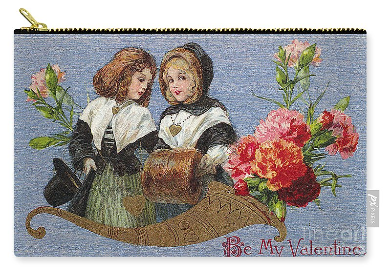 1913 Carry-all Pouch featuring the photograph Valentines Day Card by Granger