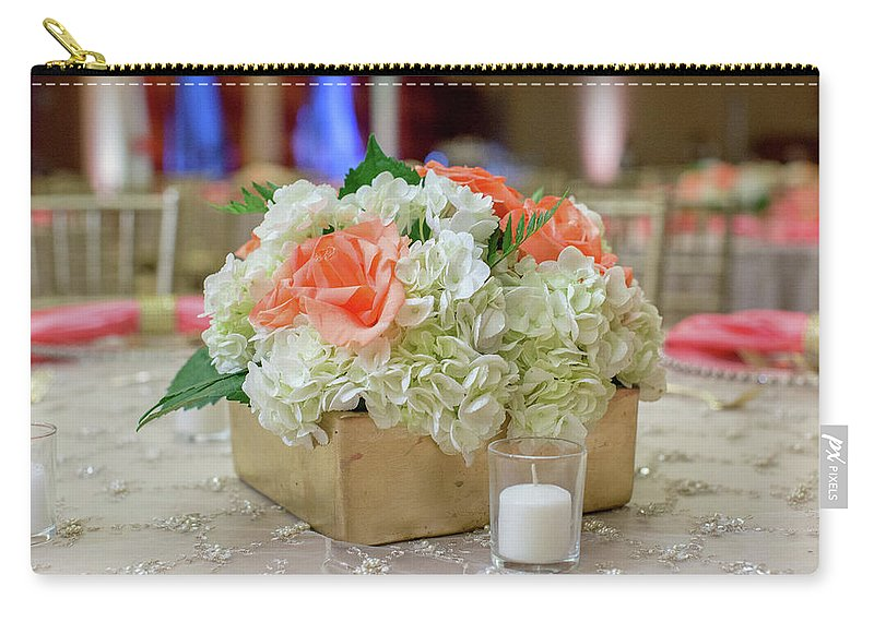 Flowers Carry-all Pouch featuring the photograph Wedding Party by Tanseer Bahzad