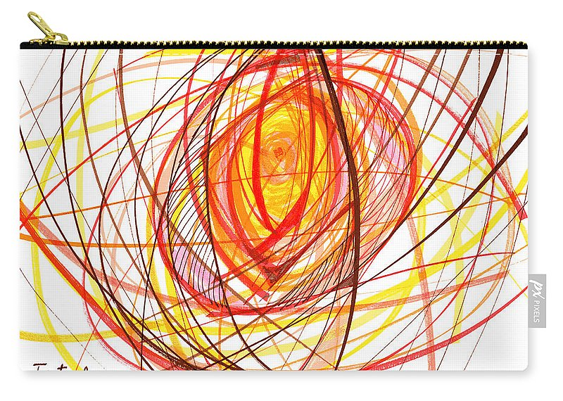 Abstract Carry-all Pouch featuring the drawing 2007 Abstract Drawing 8 by Lynne Taetzsch