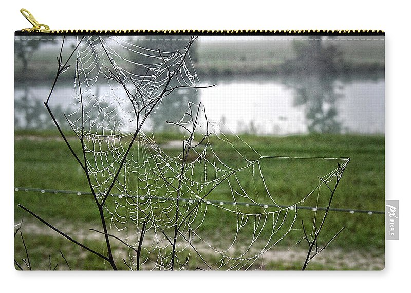 Lake Carry-all Pouch featuring the photograph 2009 Series Webs 7301 by Arvydas Zilys