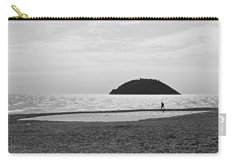 Albenga Carry-all Pouch featuring the photograph 2013 Mar Ligure #03 by Roberto Ferrero