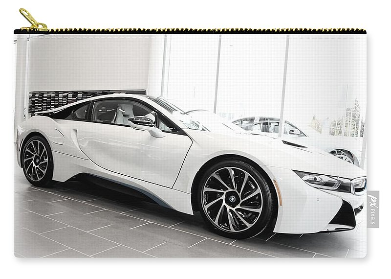 Bmw Carry-all Pouch featuring the photograph 2014 Bmw E Drive I8 by Aaron Berg