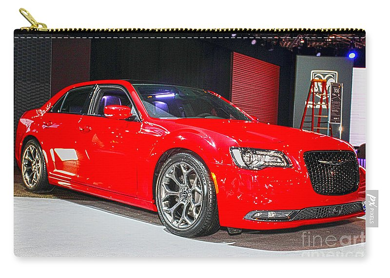 Auto Carry-all Pouch featuring the photograph 2015 Chrysler 300 Sport by Alan Look