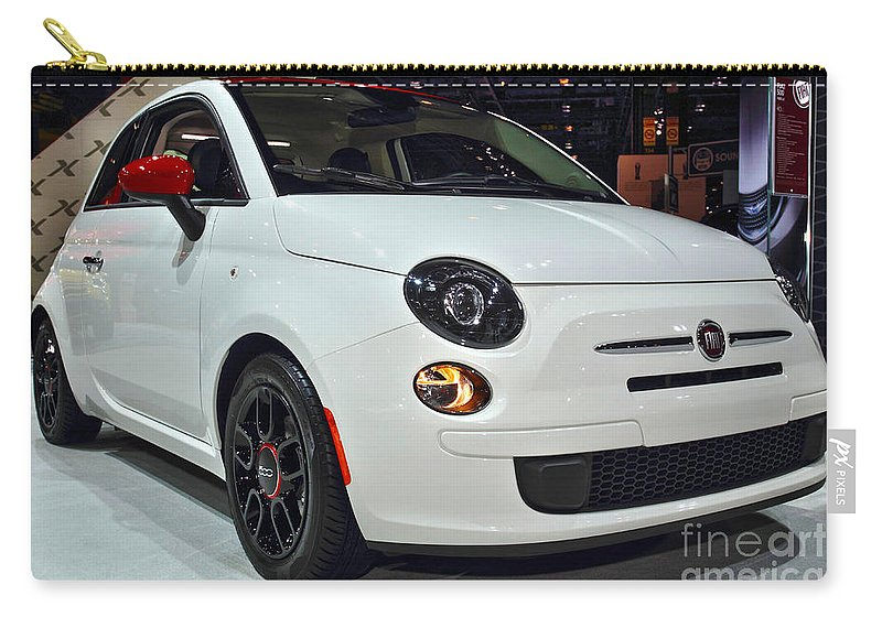 Auto Carry-all Pouch featuring the photograph 2015 Fiat 500 Ribelle by Alan Look