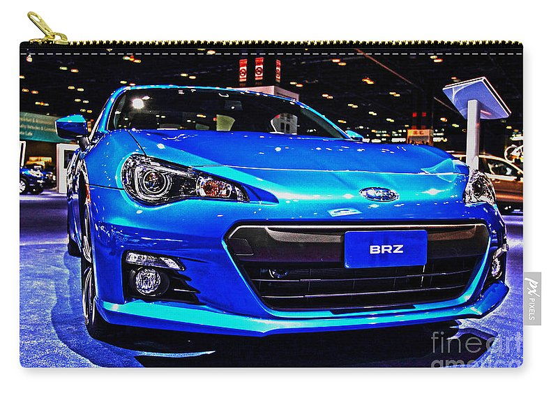 Auto Carry-all Pouch featuring the photograph 2015 Subaru Brz by Alan Look