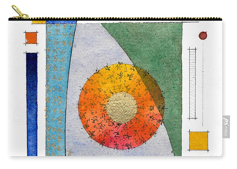 Abstract Carry-all Pouch featuring the painting 2017.08.30 Behind The Curtain by Marc Olsen