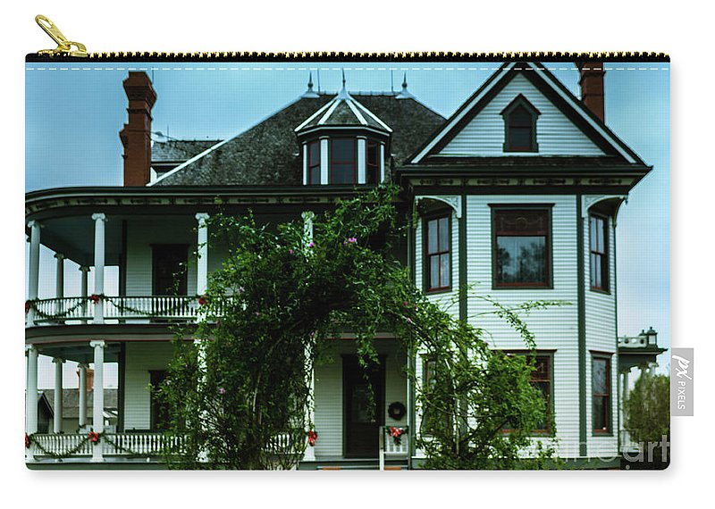 House Carry-all Pouch featuring the photograph 20th Century Mansion by JB Thomas