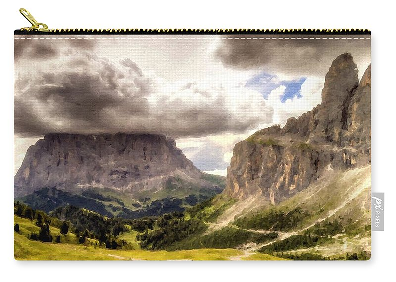 Landscape Carry-all Pouch featuring the digital art Art Landscape by Usa Map