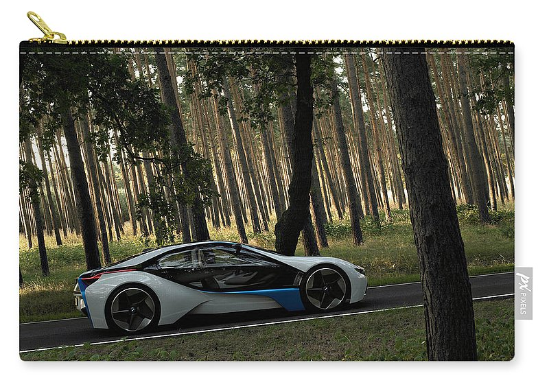 Bmw Carry-all Pouch featuring the digital art BMW by Maye Loeser