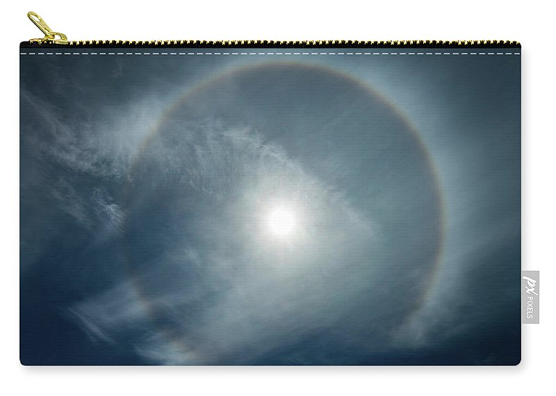 22 Degree Halo Carry-all Pouch featuring the photograph 22 Degree Solar Halo by William Freebilly photography
