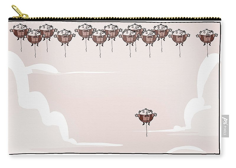Funny Carry-all Pouch featuring the digital art Funny by Mery Moon