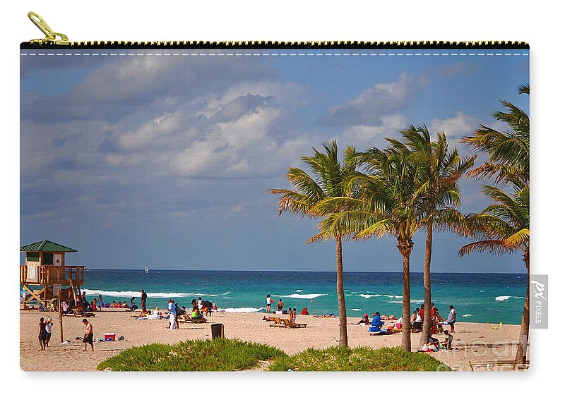 Singer Island Carry-all Pouch featuring the photograph 23- A Day At The Beach by Joseph Keane
