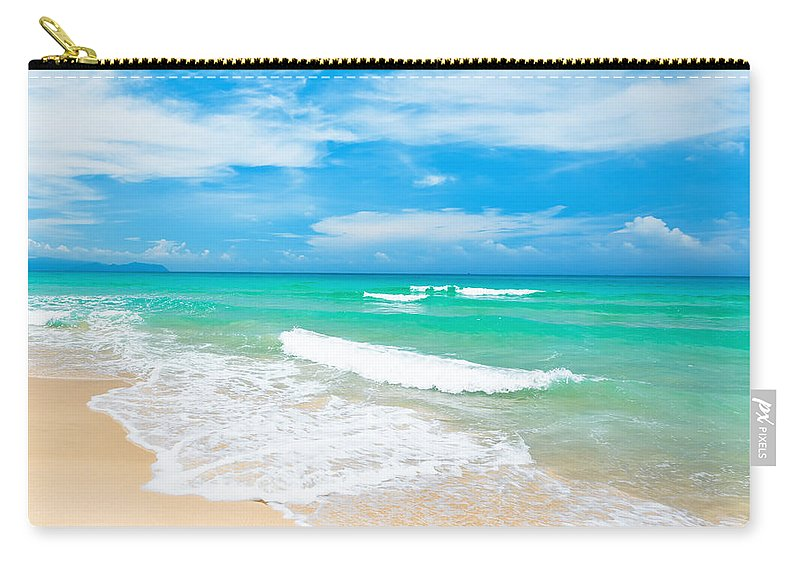 Beach Carry-all Pouch featuring the photograph Beach by MotHaiBaPhoto Prints