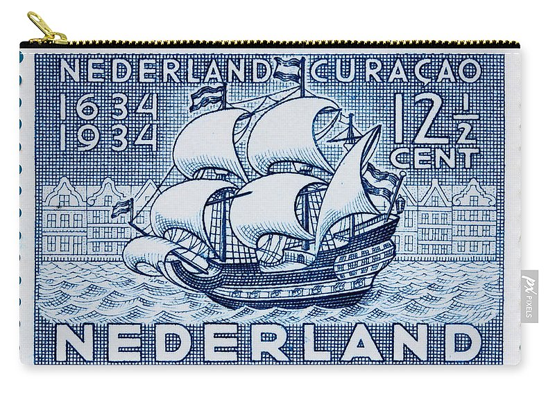 Old Dutch Postage Stamp Carry-all Pouch featuring the photograph Old Dutch Postage Stamp by James Hill