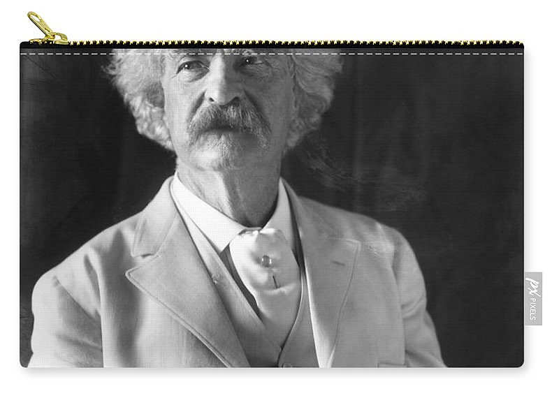 1906 Carry-all Pouch featuring the photograph Samuel Langhorne Clemens by Granger