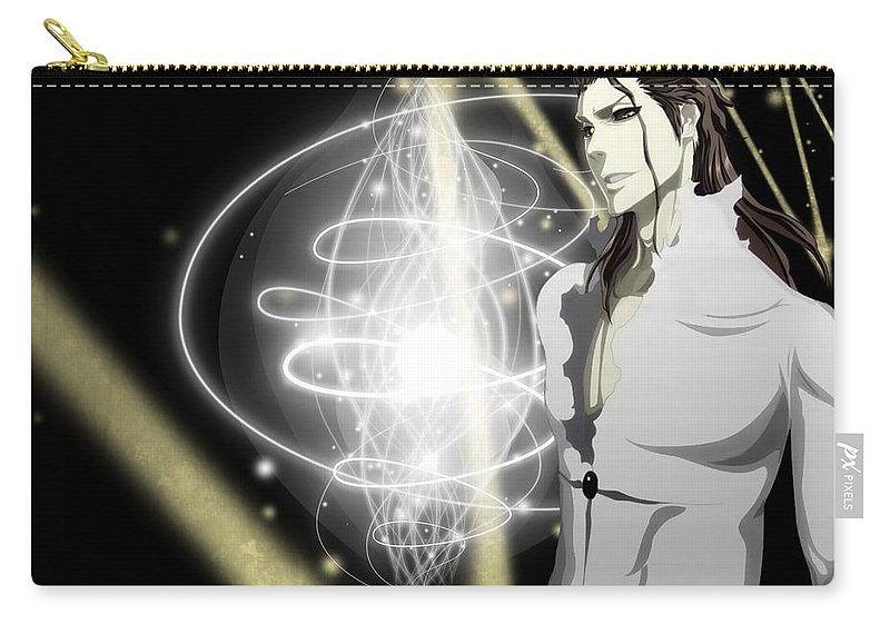 Bleach Carry-all Pouch featuring the digital art Bleach by Maye Loeser