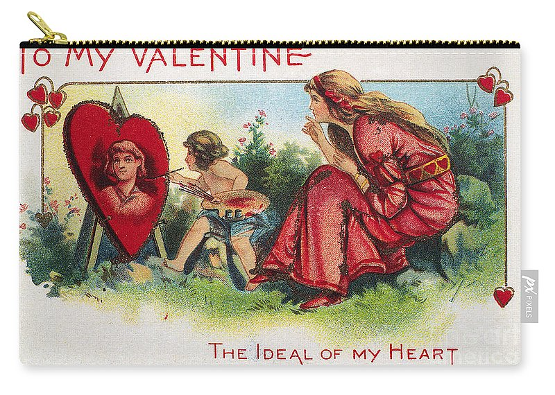 1917 Carry-all Pouch featuring the photograph Valentines Day Card by Granger