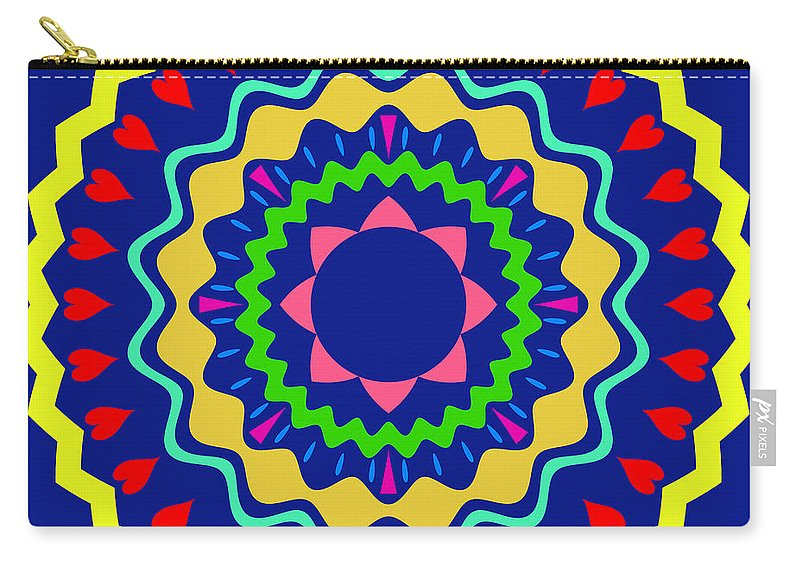 Mandala Carry-all Pouch featuring the digital art Mandala Ornament by Miroslav Nemecek