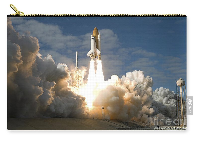 Taking Off Carry-all Pouch featuring the photograph Space Shuttle Atlantis Lifts by Stocktrek Images