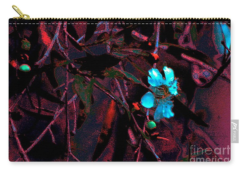 Landscape Flowers Blooms Art Photography Carry-all Pouch featuring the digital art Blooms by Tza Tzart