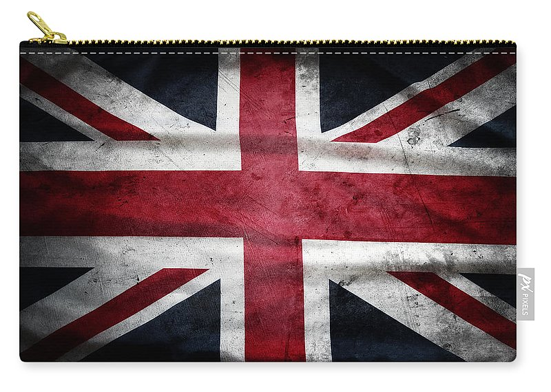 Flag Carry-all Pouch featuring the photograph British Flag 32 by Les Cunliffe