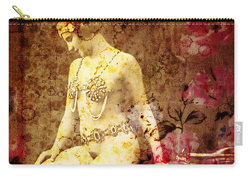 Nostalgic Seduction Carry-all Pouch featuring the photograph Winsome Women by Chris Andruskiewicz
